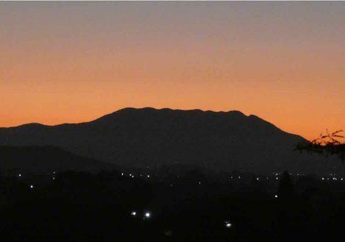 Nueve Puntos seen from Rancho Pitaya at dawn